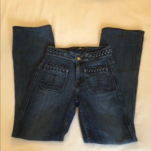 7 For All Mankind High Rise Flare Size 24